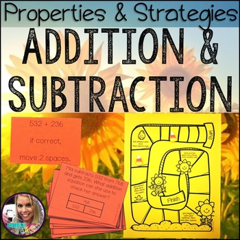 Addition and Subtraction Properties Third Grade Math Game