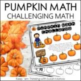 Addition and Subtraction Pumpkin Path Math Challenge FREE!