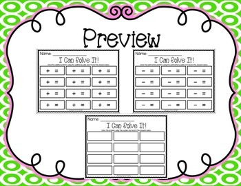 Addition and Subtraction Puzzle Cards