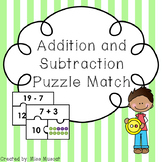 Addition and Subtraction Puzzle Match - Differentiated