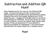 Addition and Subtraction QR Hunt!