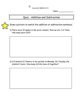 Addition and Subtraction Quiz