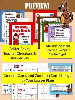 Little Red Riding Hood's Addition and Subtraction Math Center Games Bundle
