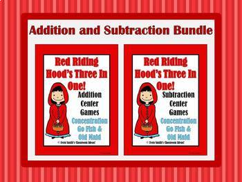 Little Red Riding Hood's Addition and Subtraction Math Cen