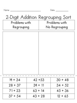 Addition and Subtraction Regrouping Sort Bundle