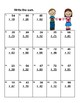 Addition and Subtraction-Regrouping-Worksheets-Grades 2-3 CCSS Valentine's