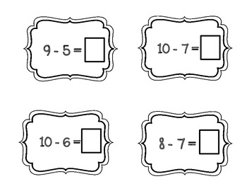 Addition and Subtraction Related Fact Matching