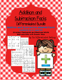 Addition and Subtraction Related Facts Flashcards and Handouts