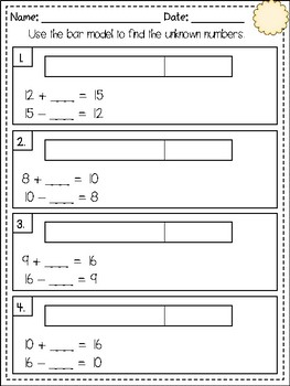 Addition and Subtraction Relationships