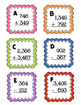 Addition and Subtraction Review Scoot