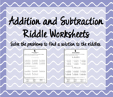 Addition and Subtraction Riddles