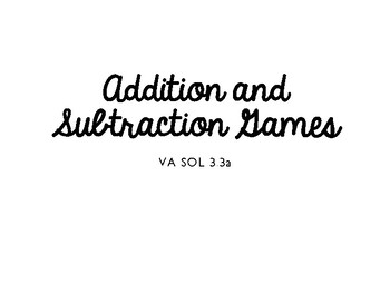 Addition and Subtraction Roll & Draw Games!