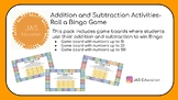 Addition and Subtraction- Roll a Bingo