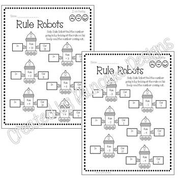 Addition and Subtraction - Rule Robots