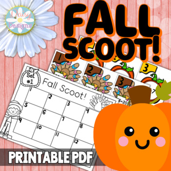 Addition and Subtraction SCOOT! Fall Theme