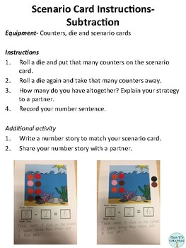 Addition and Subtraction Scenario Cards