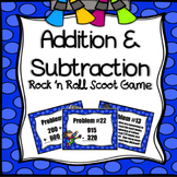 Addition and Subtraction Scoot Game (Rock 'n Roll Themed)