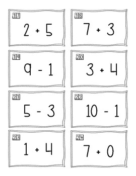 Addition and Subtraction Scoot Game