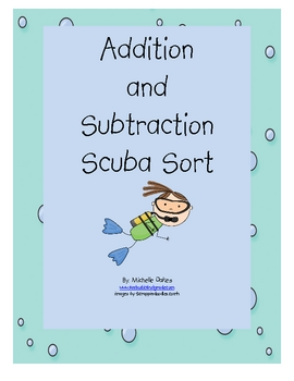 Addition and Subtraction Scuba Sort