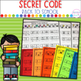 Addition and Subtraction Secret Code- Back To School