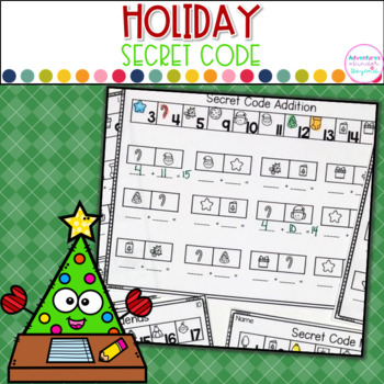 Addition and Subtraction Secret Code-Holiday Themed