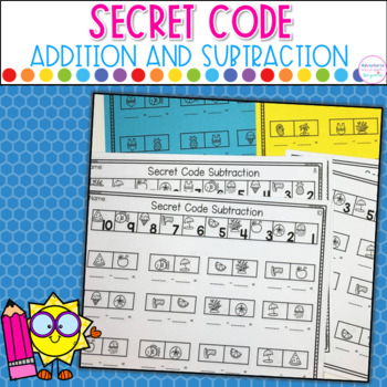 Addition and Subtraction Secret Code- Summer