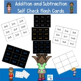 Addition and Subtraction Self Checking Flashcards  0 to 20
