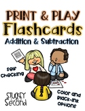 Addition and Subtraction Self-Checking Flashcards