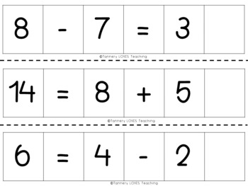Interactive Addition and Subtraction Sentence