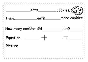 Addition and Subtraction Sentence Frames