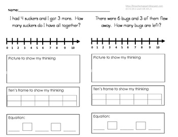 Addition and Subtraction Sheets
