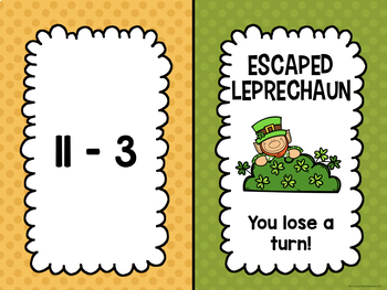 Addition and Subtraction Facts within 24 BUNDLE (Leprechaun Edition)