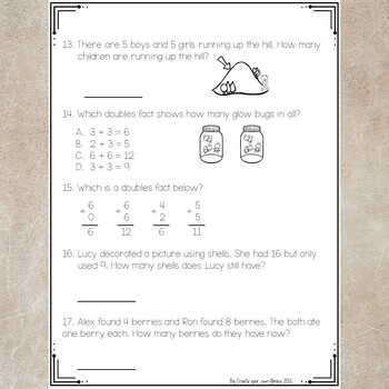 Addition and Subtraction Single Digit Test