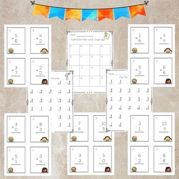 Addition and Subtraction Single digit Practice Worksheets