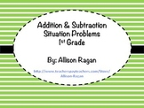 Addition and Subtraction Situation Cards (1st Grade)