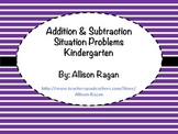 Addition and Subtraction Situation Cards (Kindergarten)