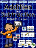 Addition and Subtraction Flash Cards and Fluency Activities