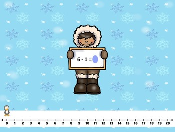 Addition and Subtraction Smart Board -Winter Friends