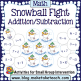Addition and Subtraction - Snowball Fight