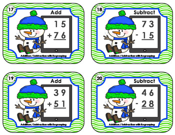 Addition and Subtraction  •  Snowman