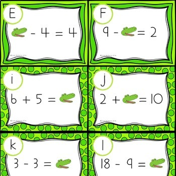 Addition and Subtraction Unknown Task Cards