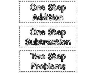 Addition and Subtraction Sort & Solve (Includes Two-Step Problems)