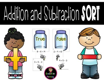 Addition and Subtraction Sort Task Cards