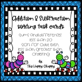 Addition and Subtraction Sorting Task Cards
