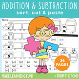Addition and Subtraction Sorts - Worksheet Activity Pages