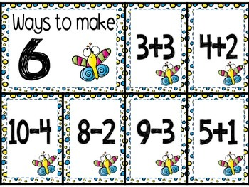 Addition and Subtraction Sorts; Ways to a make a number to 10