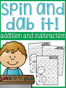 Addition and Subtraction Spin and Dab it