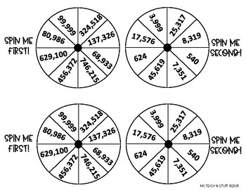 Addition and Subtraction Spin (with regrouping)