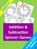 Addition and Subtraction Spinner Games for Grades 2 through 5