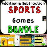 Addition and Subtraction Sports Games Bundle
